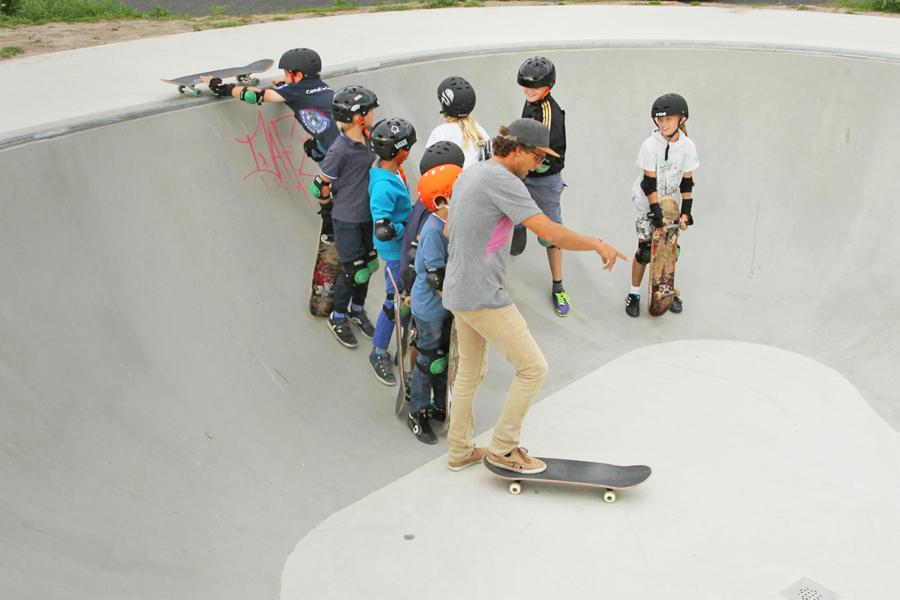 skateschool longboardles workshops