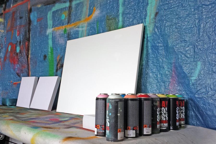 kinderfeest binnen graffiti
