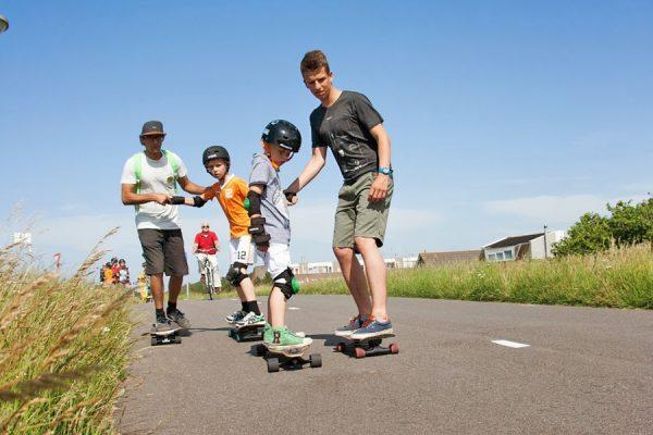 skateschool longboarden groepsles