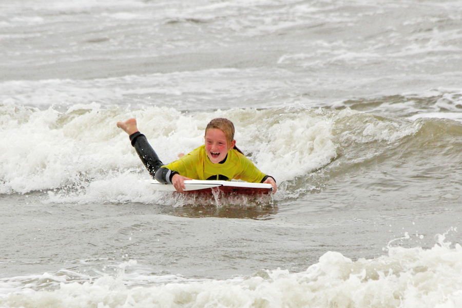 kinderfeest strand bodyboarden